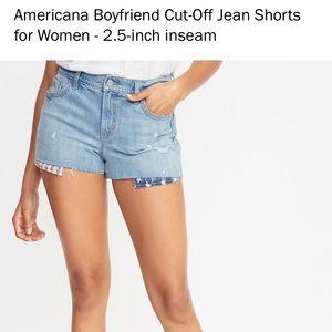 American Distressed American Flag Jean Shorts